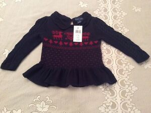 564adf28c Ralph Lauren Baby Girls Cable-Knit Cardigan Value  59.50 Size 18M