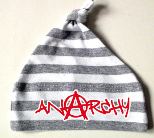 Anarchy graffiti nodos individuales bebé gorra gris-blanco a rayas