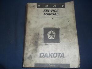 1987 Dodge Dakota TRUCK Service Repair Shop Manual Set W Driveability Factory