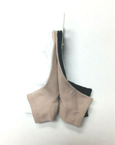Details about  /Hanes Women/'s ComfortSoft Cushioned Ankle Socks 3 Pairs White//Khaki//Black S 8-12