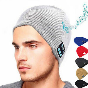 Men-Smart-Wireless-Bluetooth-Music-Warm-Knitted-Beanie-Hat-Headphones-Cap-LOT
