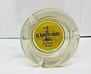 OBSOLETE-EL-RANCHO-HOTEL-LAS-VEGAS-ASHTRAY-SMOKED-TINTED-4-034-ROUND