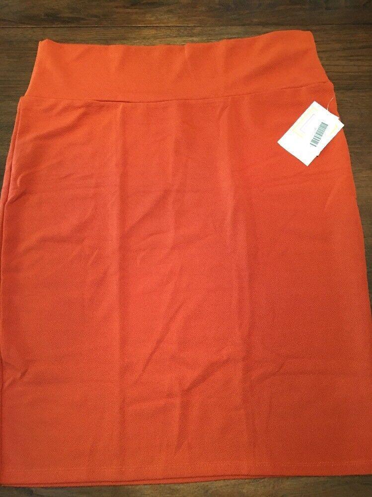 NEW LuLaRoe 2XL Solid Rusty orange Cassie Pencil Skirt Stunning Unicorn
