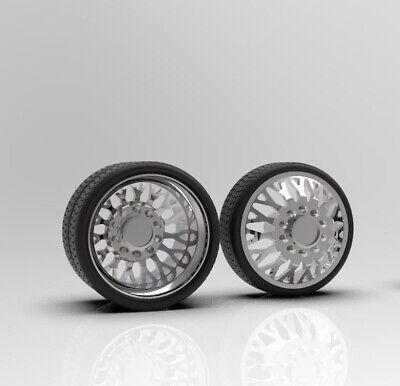 1 64 Evo 26 Inch Dually Truck Wheels With Low Profile Tire Setup Ebay
