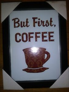 Coffee Quotes Kitchen Quotes Decor Frames Wood Frames Ebay