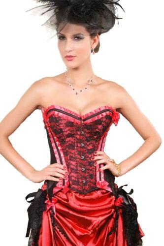 Rose Volants Floral dentelle ruban bordure overbust corset top basque victorien Bustier