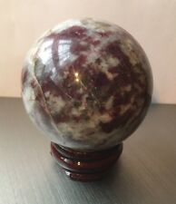 UK NEW NATURAL PINK TOURMALINE QUARTZ CRYSTAL BALL SPHERE 45MM WITH STAND