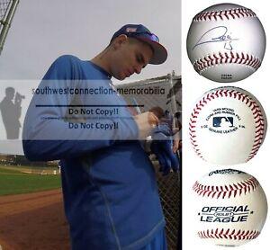 Carlos Tocci Washington Nationals Signed Autograph Baseball Rangers Proof Photo
