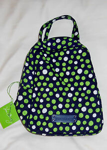 NWT VERA BRADLEY LUNCH BUNCH in LUCKY DOTS aka Let s Do Lunch ... 7bc74ffb65220