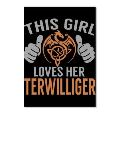 Portrait Details about  /Loves Terwilliger Name S Sticker