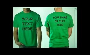 Buy 10 custom personalized t shirts print your text front for Custom t shirts front and back