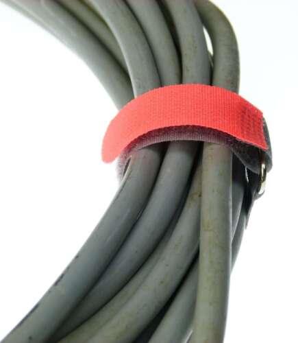 50 x Cavo Velcro nastro di velcro 160 x 16 mm ROSSO NEON FK Velcro Fascette per cavi in velcro nastri
