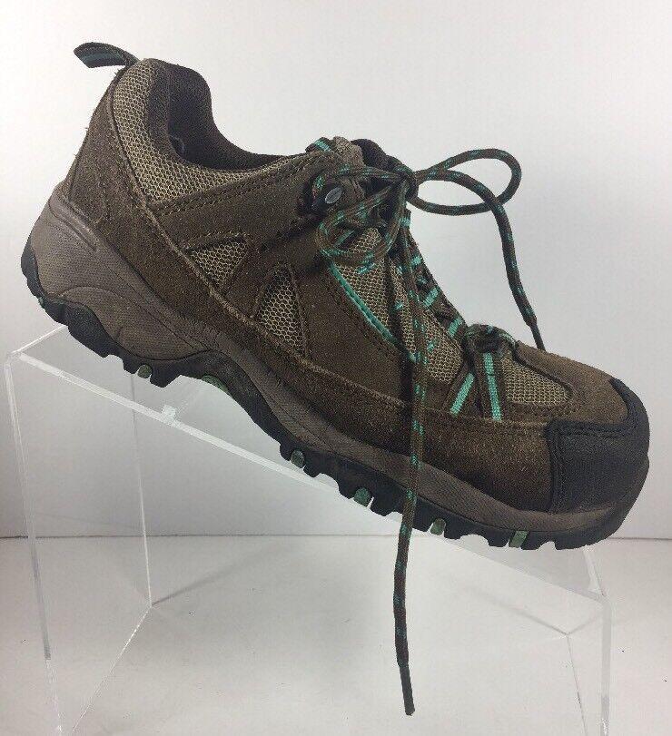donna McRae Sz 6.5 M Athletic Hiking Walking Trail scarpe Steel Toe