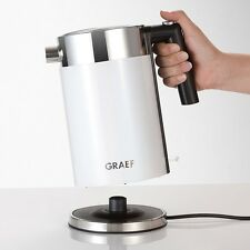Graef WK 61 Weiss-Edelstahl Wasserkocher 1,5 l Fassungsvermögen 2.015 Watt