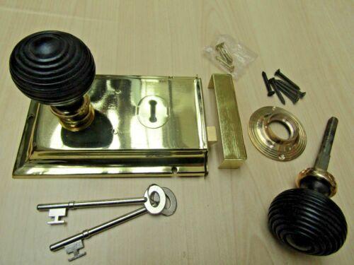TRADITIONAL CLASSIC RETRO VINTAGE OLD ENGLISH RIM DOOR LOCK KNOB HANDLES SET