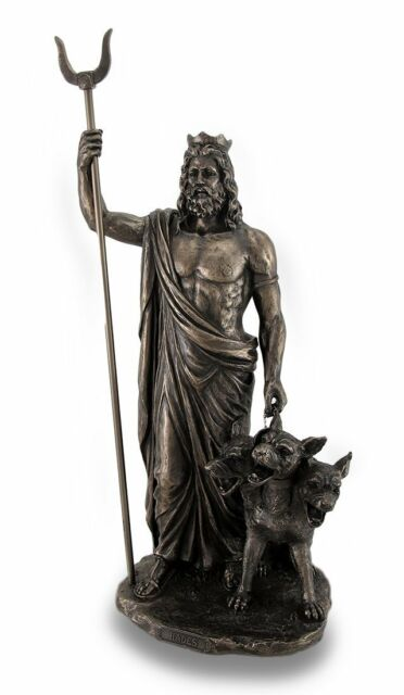 "12.75"" Hades Greek Lord of the Underworld Statue Pluto Dead Figurine Museum"