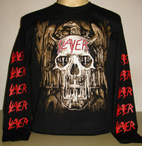 Slayer Thrash Metal Band Skull Eagle Long Sleeve T-Shirt Size S M L XL 3XL New!