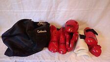 Macho Martial Arts Karate Sparring Gear Set Youth Size Medium; Helmet Glove Boot