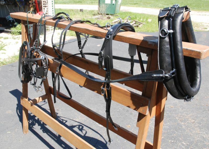 Amish beta miniature horse  drawn harness hames & collar  sale with high discount