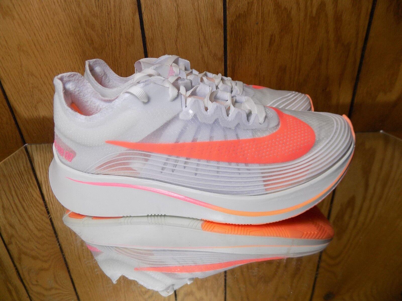Women's Nike Zoom Fly SP Sz 8 White/Sunset Pulse AJ8229-108 s 8.5
