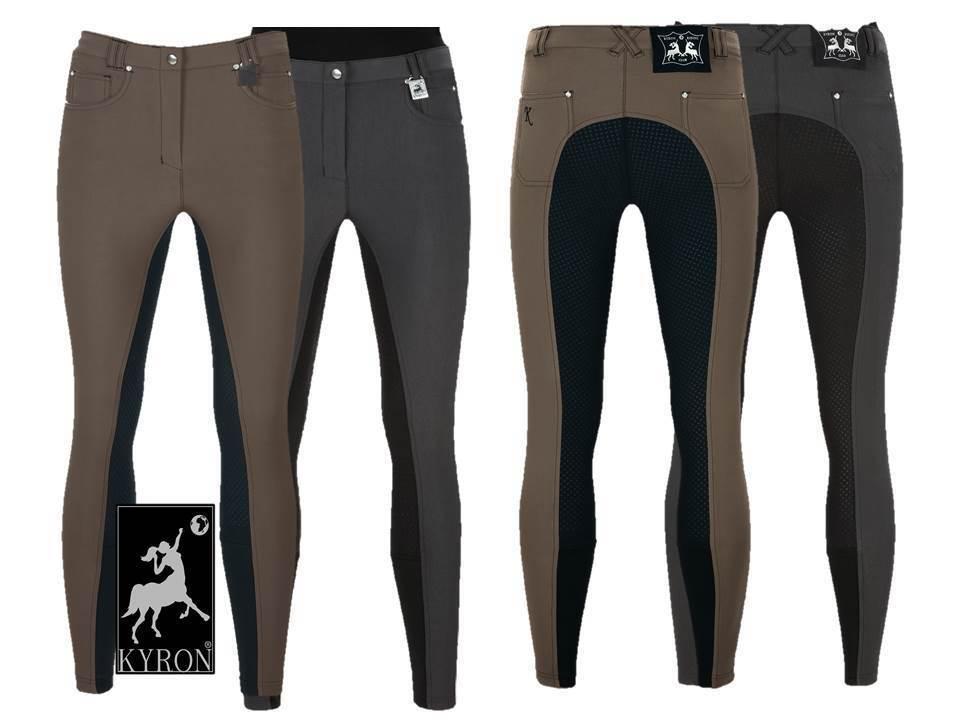 Kyron Pantalones de Montar Mujer Soft Grip , Badana, Antracita o Muskat