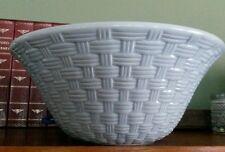 pfaltzgraff basket weave serving bowl-blue