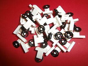 LEGO-CITY-CREATOR-30-x-Lenkrad-Lenkraeder-73081-in-schwarz-weiss-NEUWARE