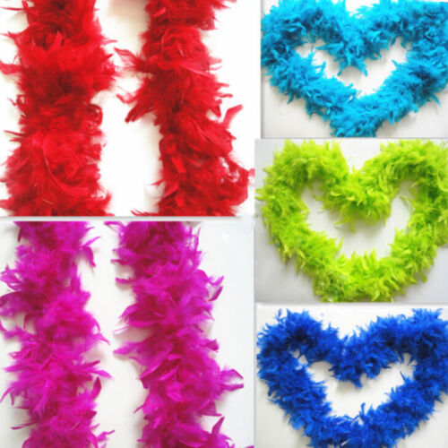 2M Handmade Fashion Elegant Feather Fluffy Fantasy Scarf Dress Accessories Pop