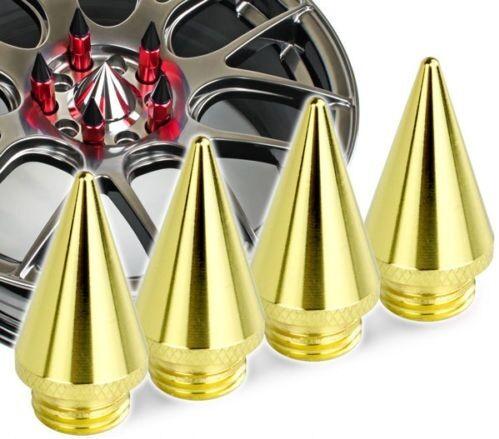 4 X GOLD 24k Spike Chiodi per DADI RUOTA LUG sintonizzatore ALETTE