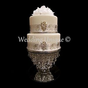 Crystal cake stand wedding cake stand glass chandelier cake stand ...