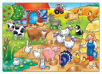 """Who's on the Farm"" Bauernhof Orchard Toys PUZZLE 2 J."