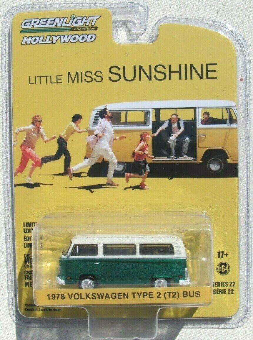 GRÖN MASKIN HOLLYOträ SERIER 22 MISS SUNSHIN 1978 VW TYP 2 (T2) buss