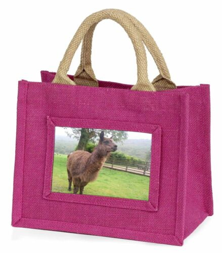 Llama Little Girls Small Pink Shopping Bag Christmas Gift, AL5BMP