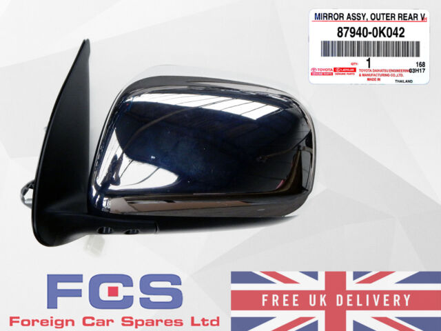 Ford Fiesta 1999-2001 Door Wing Mirror Manual Cable Black Left Near Side
