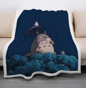 Cartoon Totoro drôle couverture d'impression 3d Canapé Canapé Avec Housse de couette Throw Blanket