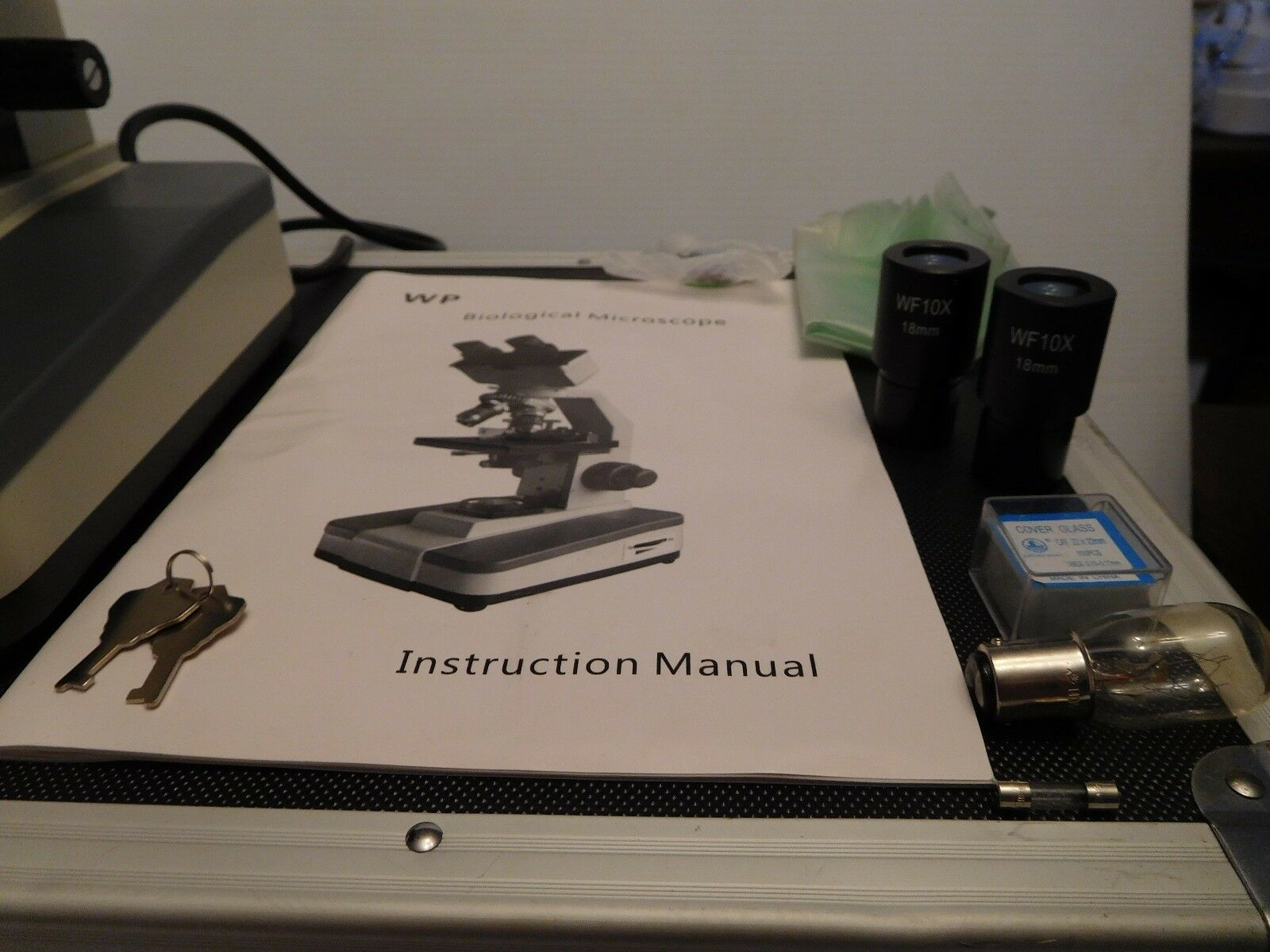 Walter Products WP Powered Student Biological Microscope Extras Extras Extras & Carrying Case 98e915