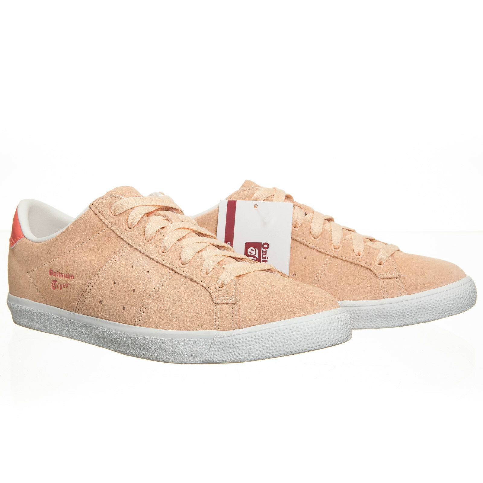 Onitsuka Tiger Lawnship Suede Apricot Peach Pink - Women's 8