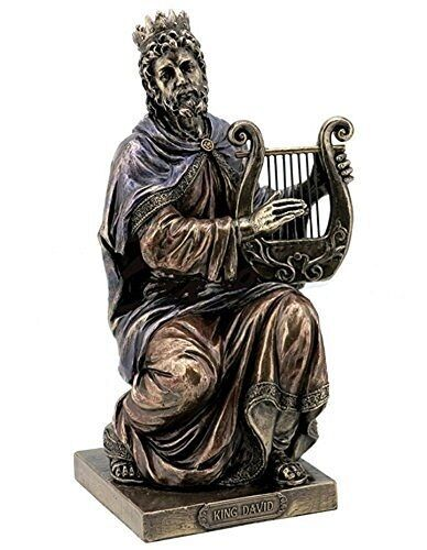 9.5 Inch King David Playing Lyre Statue Sculpture Figure Catholic Figurine Decor