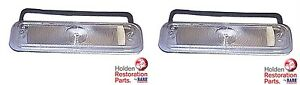 HOLDEN EJ EH LEFT & RIGHT INDICATOR LENSES & GASKETS PAIR NEW RARE SPARES QLD