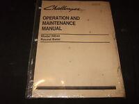 Challenger Rb44 Round Baler Operation & Maintenance Manual