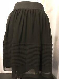 volledig Nwt Ann gevoerde Maat chiffon damesrok Zwarte elastische taille 8 Taylor bgyI7vfm6Y