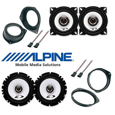 Kit 6 Speakers for OPEL Vauxhall CORSA D Alpine with adapters and spacer rings