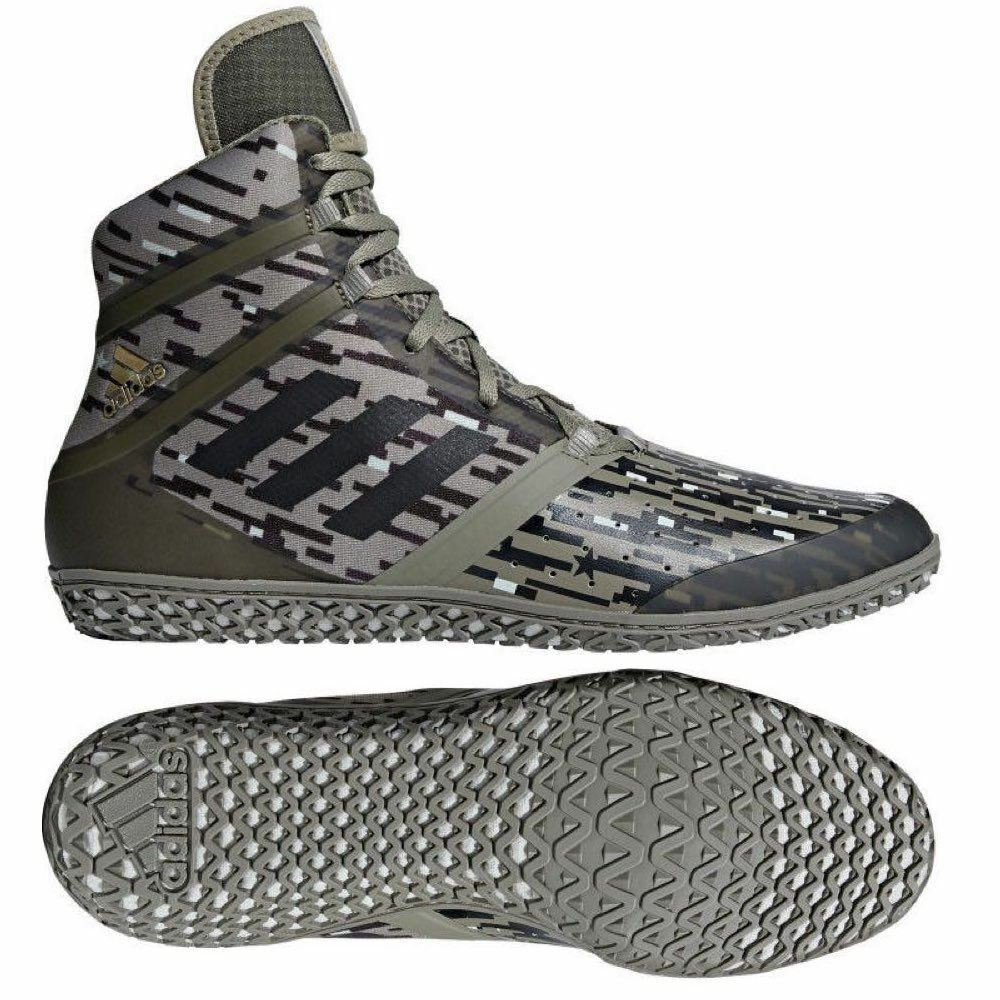 Adidas Flying Impact Wresting Boots Adult  Mens Green Boxing shoes Gym Trainers  special offer