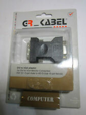 DVI to VGA Adapter DVI 12 + 5 Pin Male to HD D-Sub 15 Pin Female Convertor