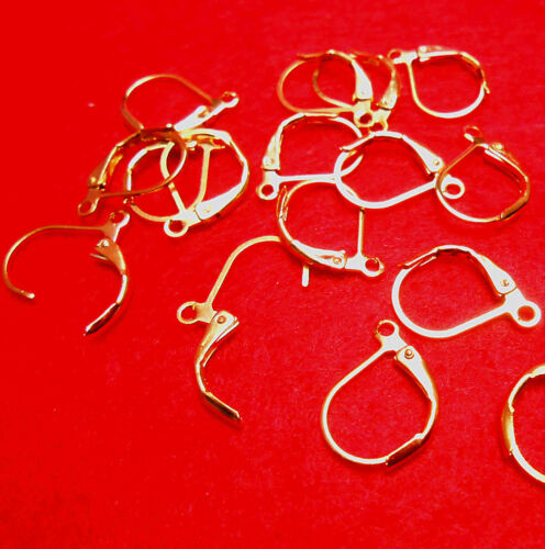 20PCS Wholesale Lever Back Earring Findings 18k Gold Nice loo 008French Ear Clip