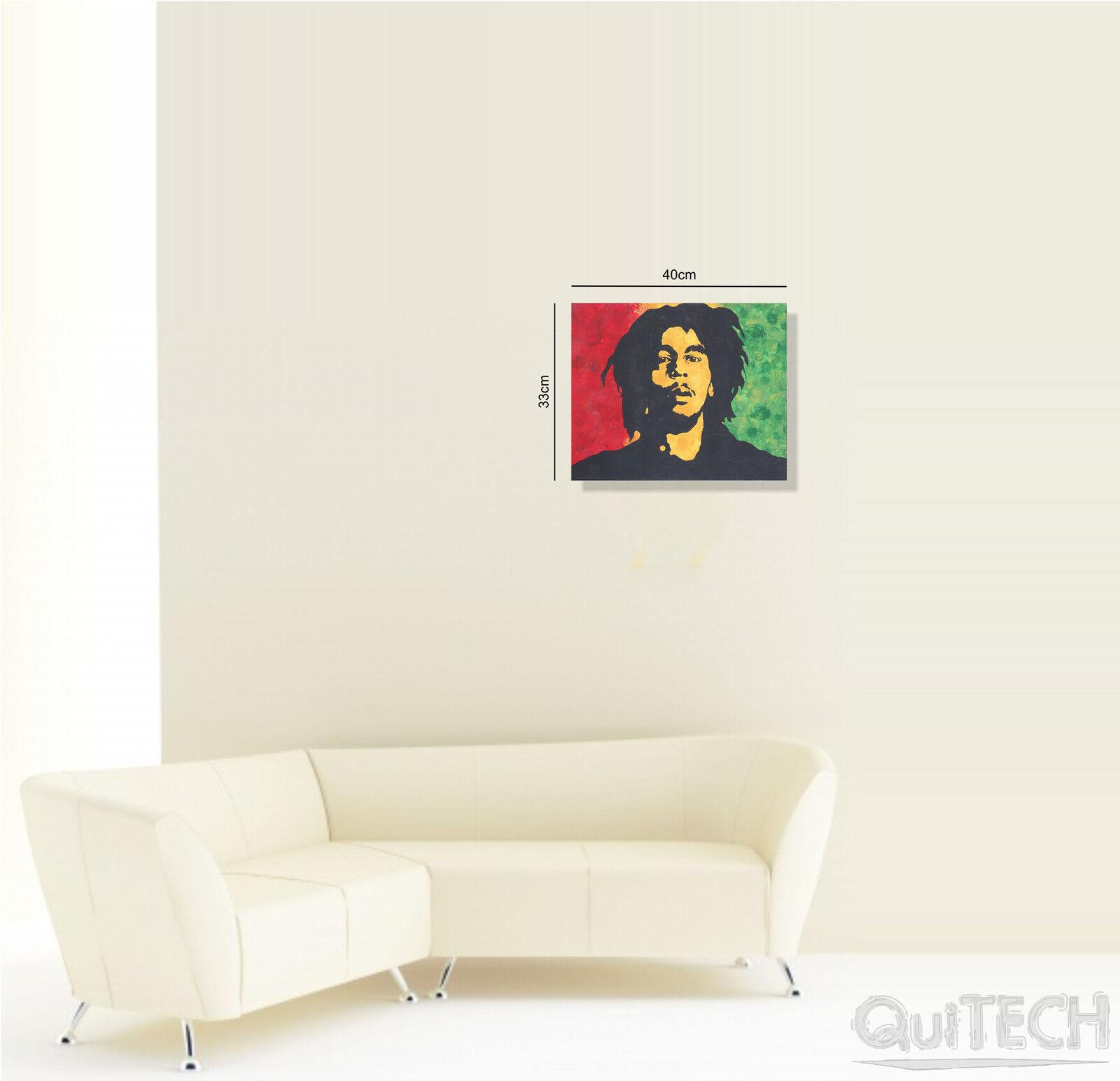 Bob Marley su - 11 - Quadro stampa su Marley Tela Pelle Canvas Dipinto Arte Moderna fa2a08