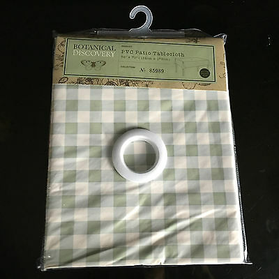 Botanical PVC garden Patio table cloth wipe clean tablecloth w hole 132 X 178cm