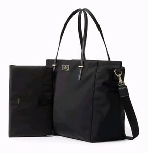 3eccfe0a4605 Kate Spade Kaylie Baby Diaper Bag Black Nylon with Changing Pad and ...