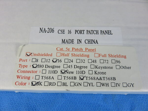 Na-206 C5e Unshielded New Buy One Get One Free 16 Port Patch Panel