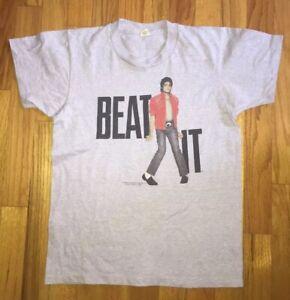 Vintage-1984-Michael-Jackson-034-Beat-It-034-Tour-Concert-T-shirt-Youth-Large-14-16